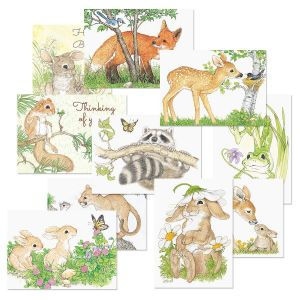 Cute Critters Greeting Cards Value Pack