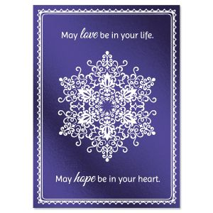Snowflake Brilliance Deluxe Christmas Cards