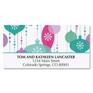 Merry Ornaments Address Labels