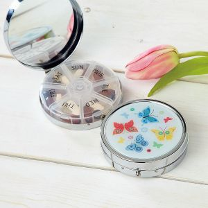 Delicate Butterflies Weekly Pill Box