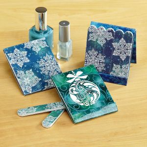 Mini Snowflakes Emery Board Matchbooks