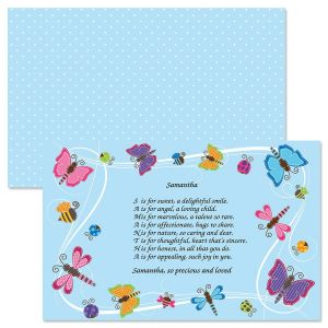 Butterflies Name Poem Placemat
