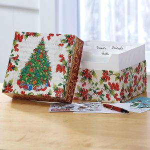 Christmas Card Organizer Box