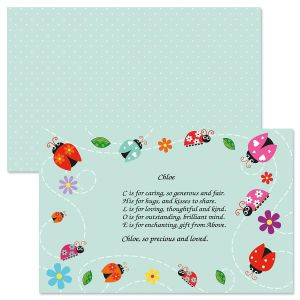 Ladybugs Name Poem Placemat