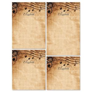 Sheet Music Notepad Set