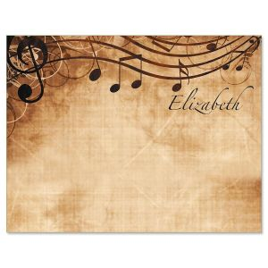 Sheet Music Correspondence Cards