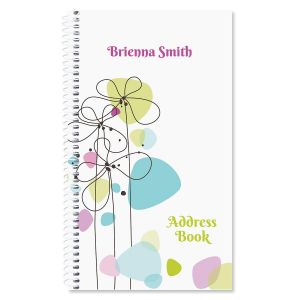 Sketched Flowers Lifetime Address Book