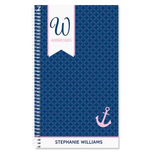Ribbon Monogram Lifetime Address Book