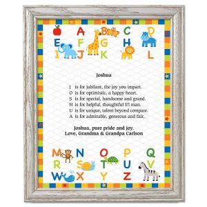 Alphabet Name Poem Framed Print