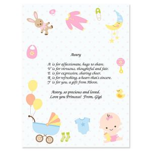 Baby Life Name Poem Print