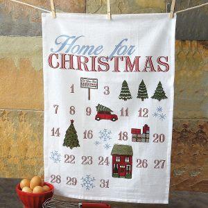 Christmas Calendar Flour Sack Towel