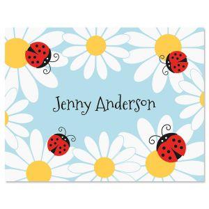 Ladybug Daisy Note Cards