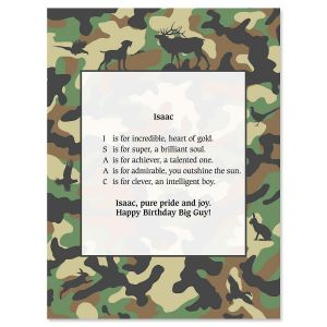 Hunting Name Poem Print