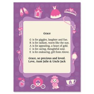 Princess Name Poem Print