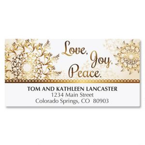 Elegant Snowflakes Address Labels