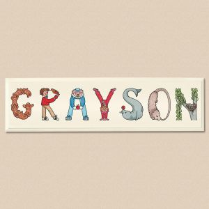Character Letter Plaque For Baby