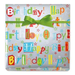 Happy Birthday Wishes Jumbo Rolled Gift Wrap