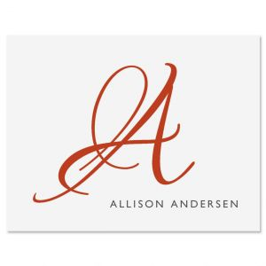 Personalized Initial Note Cards