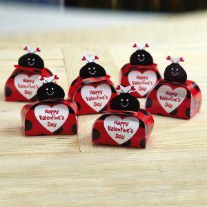 Ladybug Valentine Favor Boxes