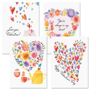 Paintbox Valentine Cards