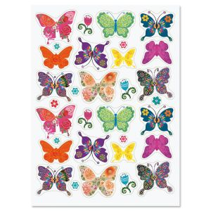 Floral Butterfly Stickers