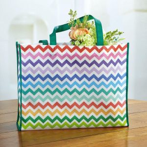 Colorful Chevron Tote Bag