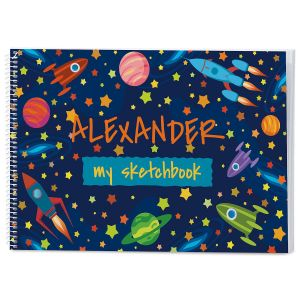 Space Personalized Sketchbook