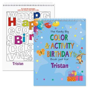 Birthday Personalized Activity Book