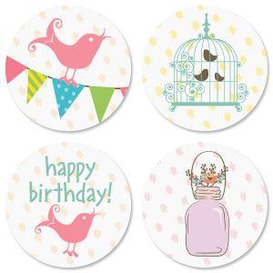 Happy Day Birthday Seals