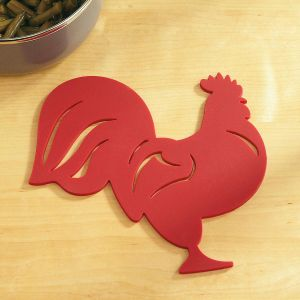 Red Rooster Silicone Trivet Hot Pad