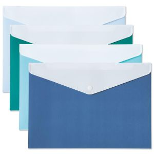 Solids Coastal Blues Snap Folders