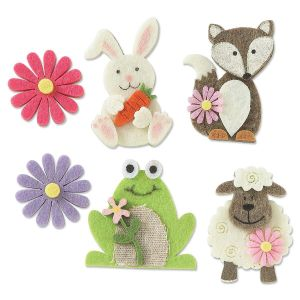 Bunnies, Frogs, & Friends Dimensional Felt Shapes