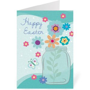 Flower Jar Easter Cards