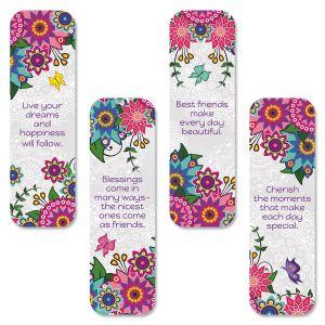 Neon Flower Bookmarks