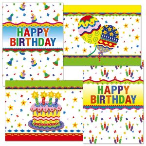 Colorful Celebration Birthday Cards