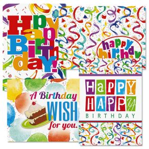 Colorful Confetti Birthday Cards