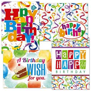 Colorful Confetti Birthday Cards