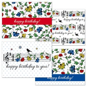 Happy Birthday Music Cards