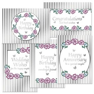 Deluxe Shimmery Pink Roses Cards