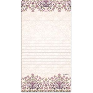 Purple Tapestry Lined Magnetic Notepads