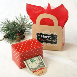 Kraft Money Dispenser & Gift Bag Set
