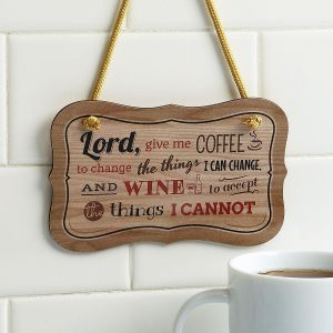 Wooden Coffee-Wine Plaque