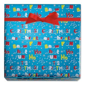 Ho What Fun Foil Rolled Gift Wrap
