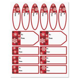 Snowflakes Labels