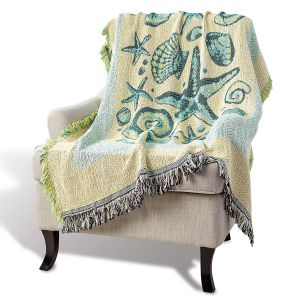 Coastal home dcor tropical beach decor current catalog coastal life woven decorative throw m4hsunfo