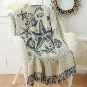 Coastal Life Woven Throw
