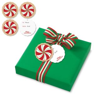 Kraft Red & White Candy Gift Tags