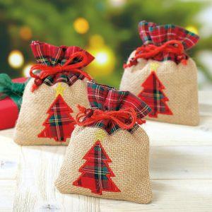 Burlap Tree Treat Bags