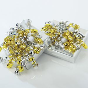 Gold Pom Pom Bows