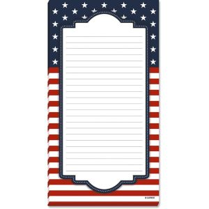 Patriotic Stars Lined Notepads